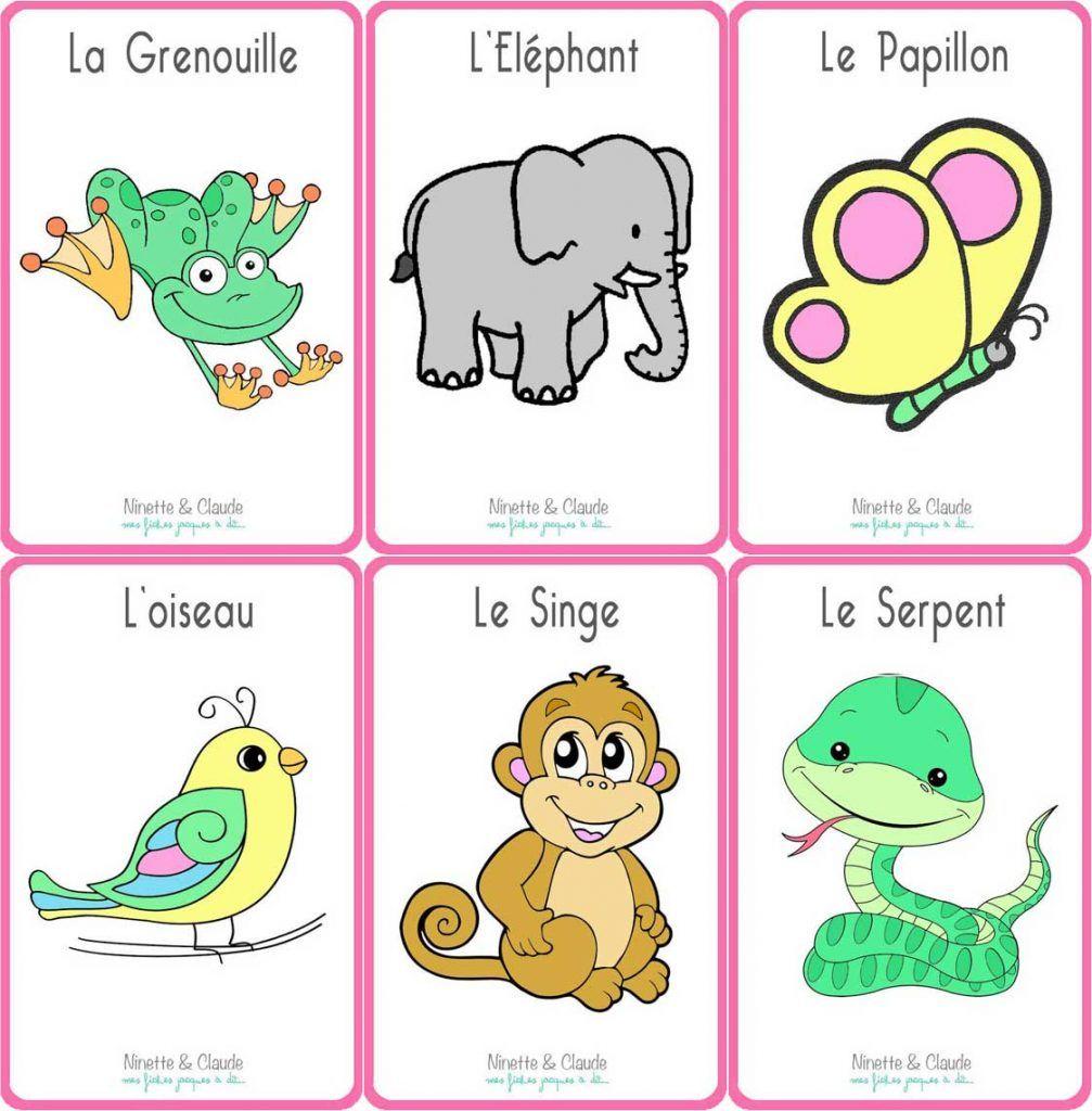 Fiches Jacques à dit - Les Animaux | Jeux educatif pour ...