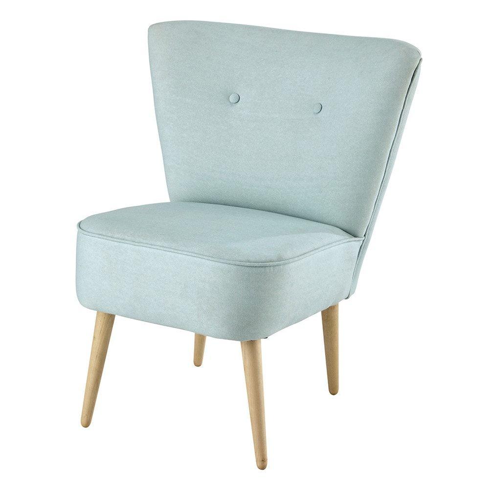 Light blue scandi cotton armchair SCANDINAVE | Maisons du monde