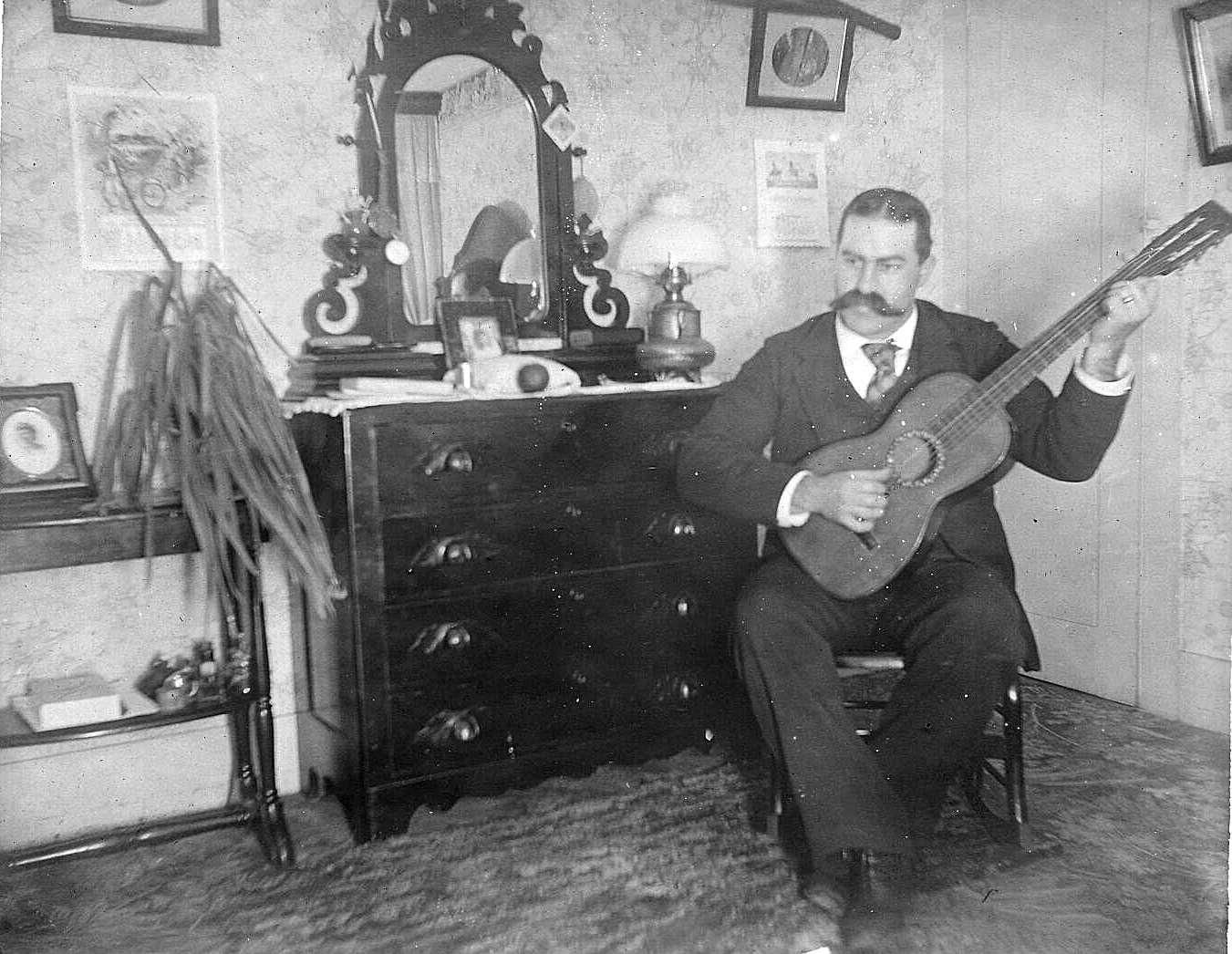 A Big Moustache And A Guitar Historical Facts History Guitar Player