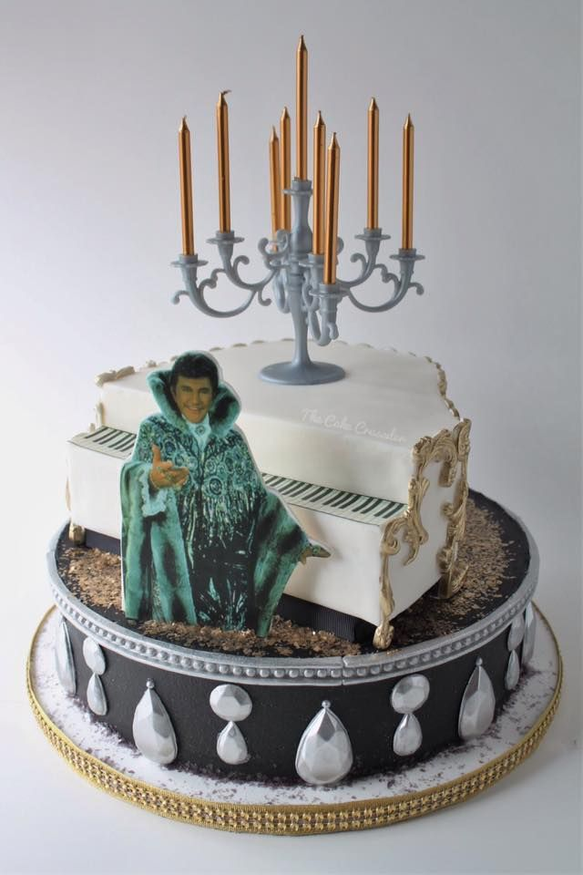 Liberace Cake Piano Candelabra