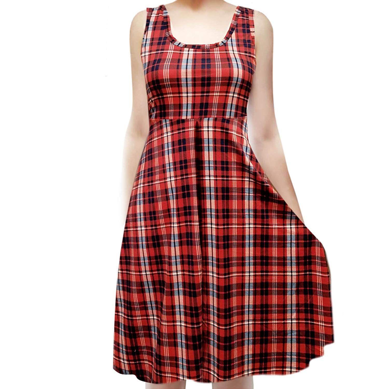 c820518b8a3 ShopMyTrend Women s Sleeveless Flowy Midi Summer Beach A Line Tank Dress