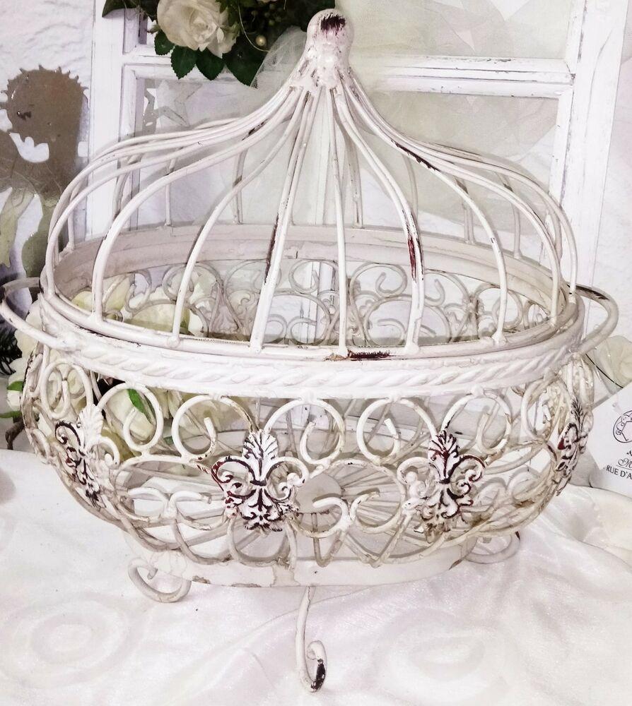 Küchenkrone Hängekrone französische Lilie Deckenkrone Metallkrone Shabby Chic