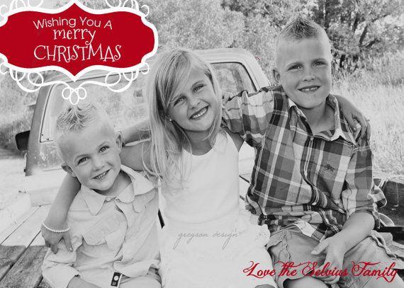Vintage Label Christmas Printable Card 5x7- Greyson Design