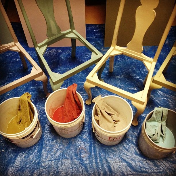 Dying Drop Cloth Canvas With Chalk Paint 174 Decorative Paint