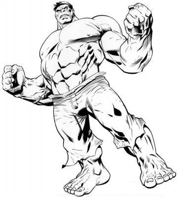 Dibujos para colorear de Hulk | refuerzo para niños | Pinterest ...