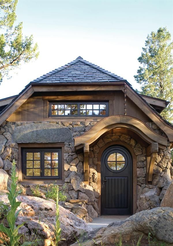 A Newly Built Cottage That Looks 100 Years Old Architecture - 100-wood-and-stone-house