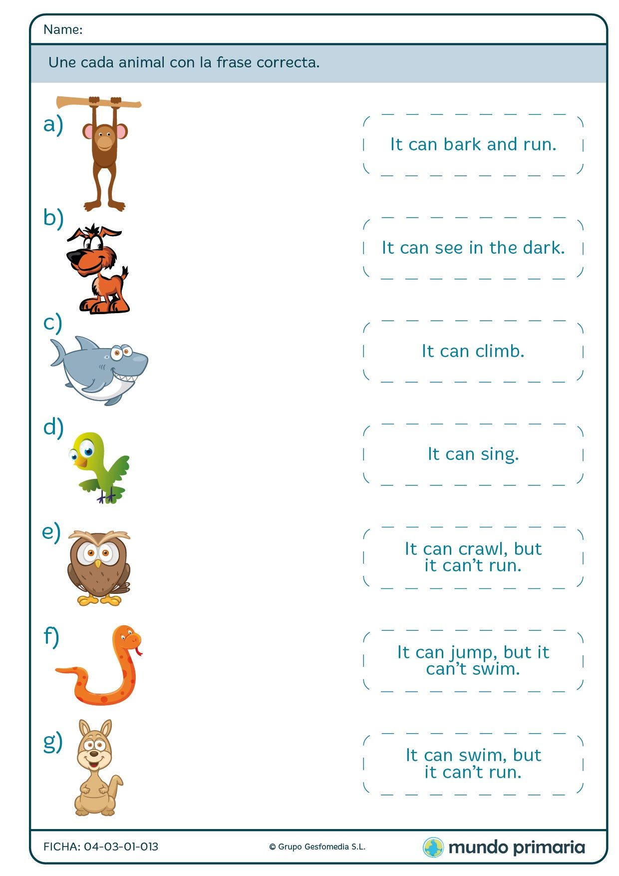 Libros Ingles Primaria Fichas De Quotgrammar Quot Para 2º De Primaria Activities For