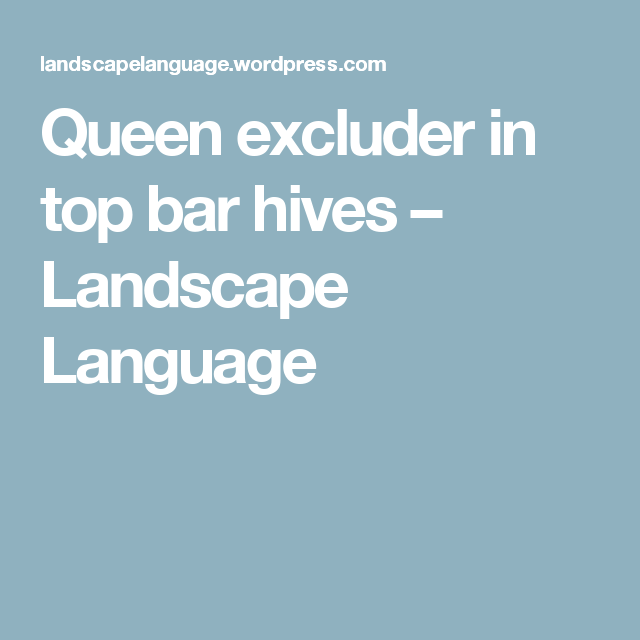 Queen excluder in top bar hives (With images) | Top bar ...