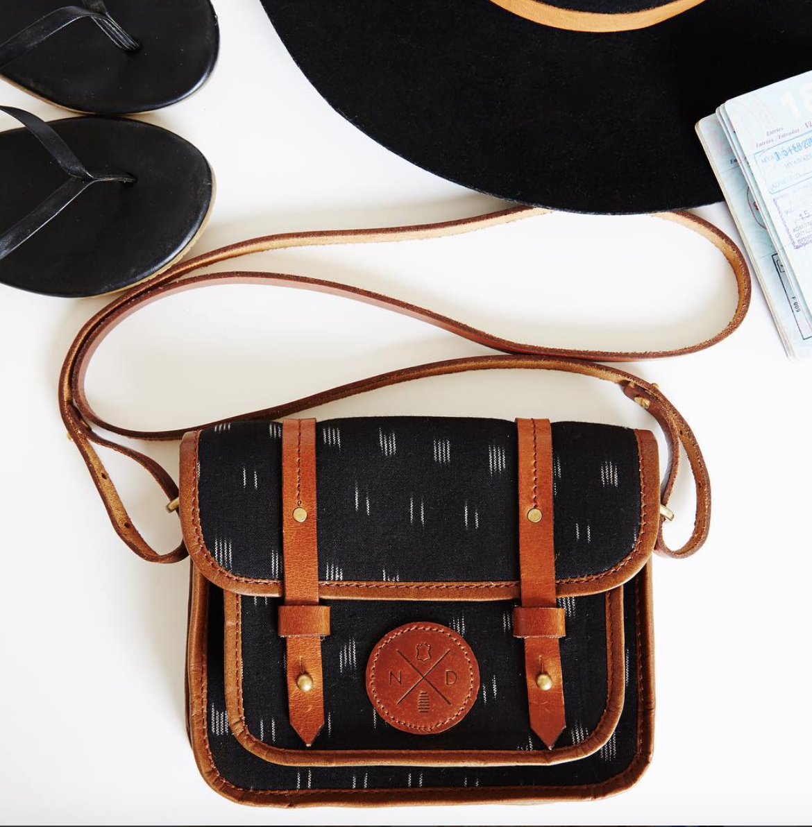 Going somewhere? Don't forget our Small Ikat Satchel! {The Little Market}