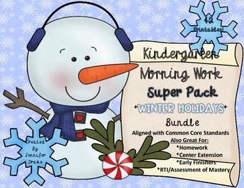 Winter Holidays Morning Work | by Jennifer Drake
