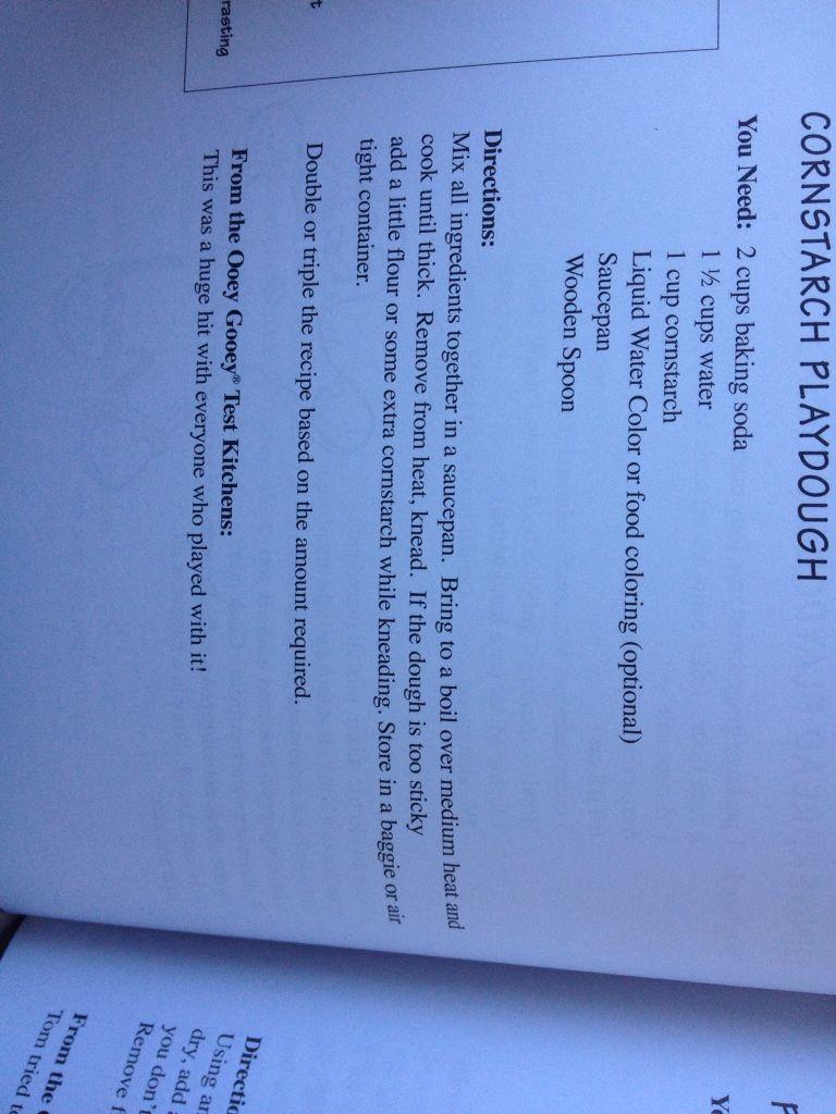 Cornstarch playdough