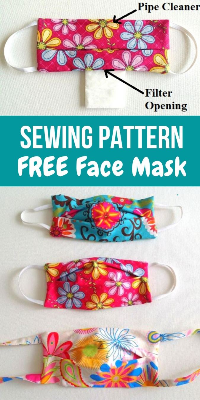 How To Sew Masks With Filter Pockets Sewing Accessories Sewing