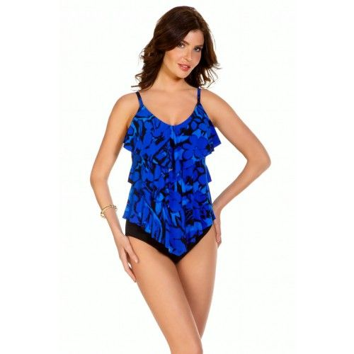12a61c00c4 Magicsuit By Miraclesuit Blue Jasmine Rita All Over Tiered Tankini Top -  Magicsuit - Brands at eSunWear.com