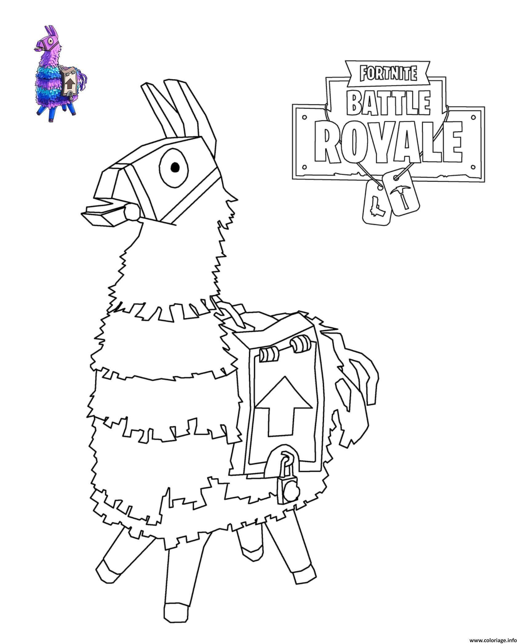 Coloriage De Lama De Fortnite à Imprimer Gratuitement