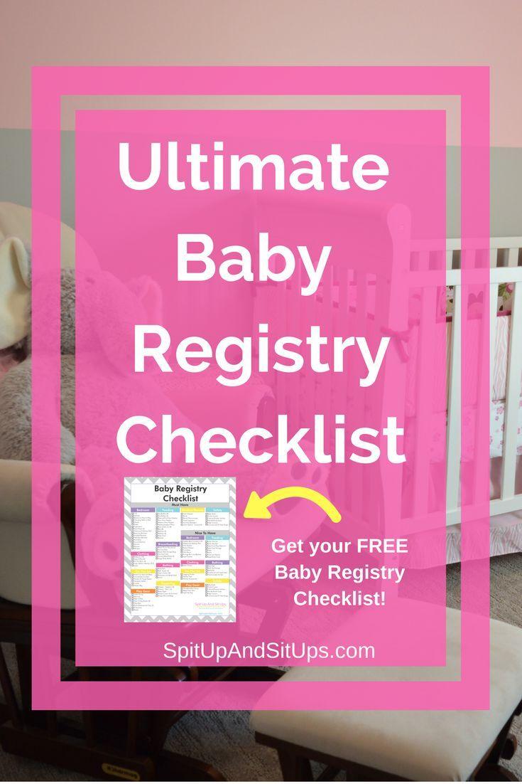 Get Your Free Baby Registry Checklist Baby Registry Checklist