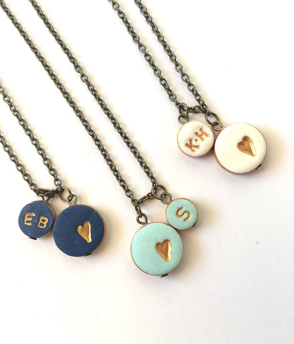 Hand Stamped Jewelry Mother/'s All Letters Available Sterling Silver Heat Shaped Initial Necklace Letter l Necklace Personalized Heart
