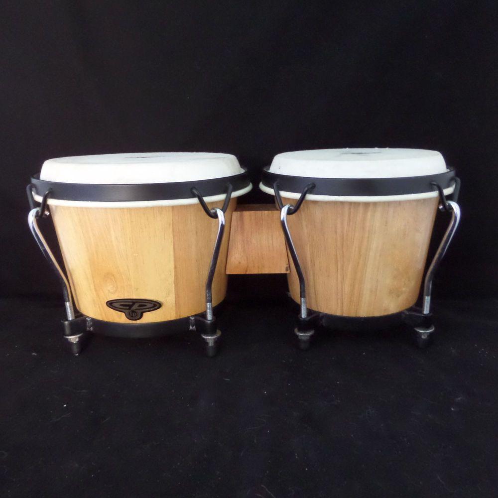 CP Brand Cosmic Percussion Wood Bongo Natural Hardwood Drums Set  #LatinPercussion