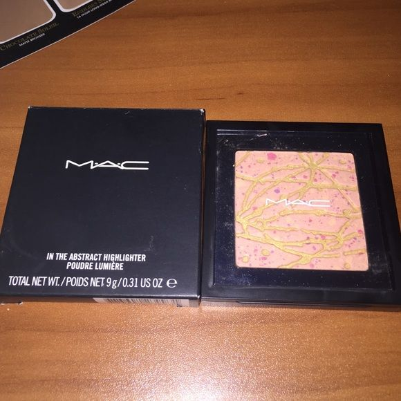 "NIB MAC in the abstract highlighter Brand new in box gorgeous highlighter by MAC ""in the abstract"" no trades. Bundle & save. MAC Cosmetics Makeup Luminizer"