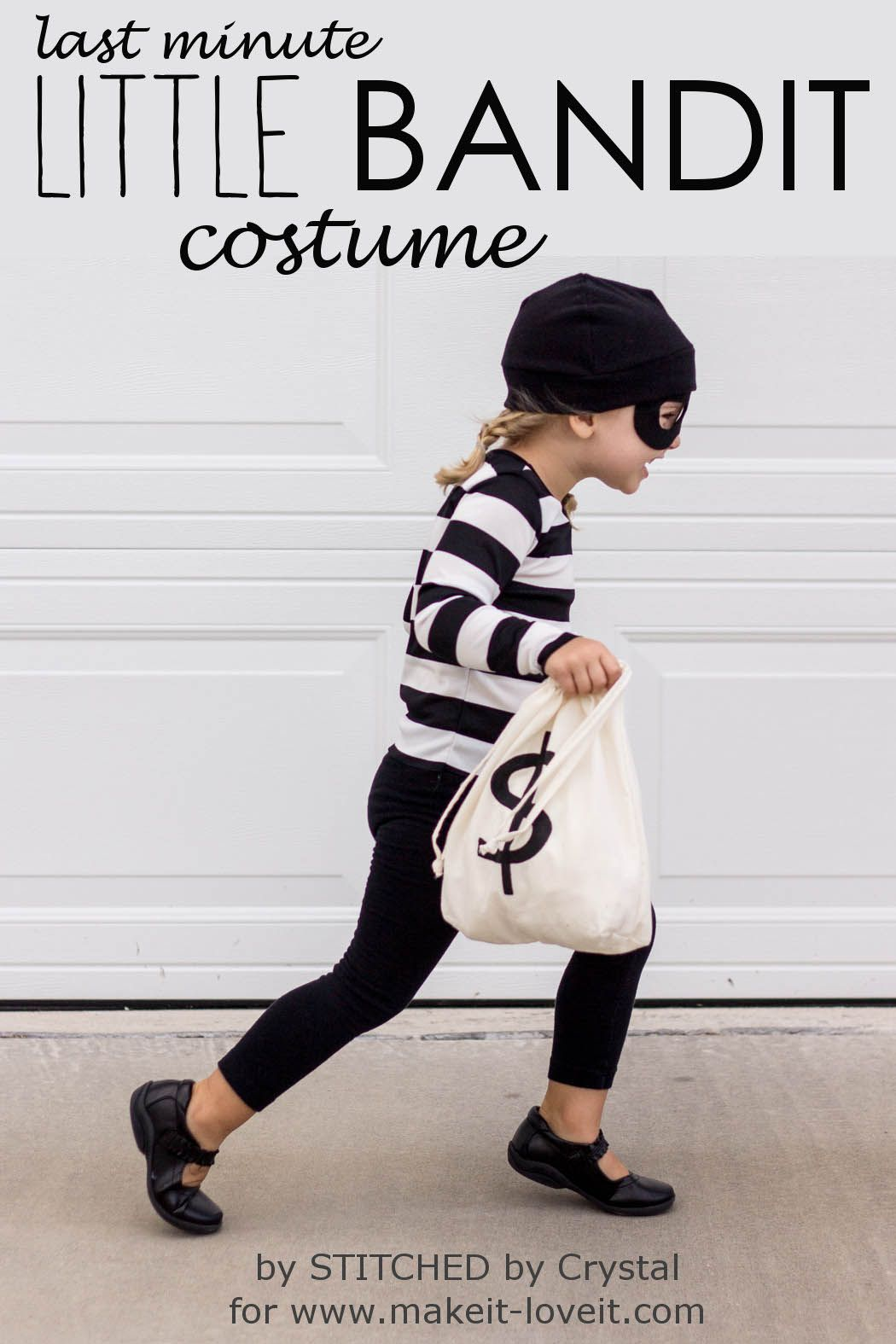 make a last minute little bandit costume for boys and girls of any