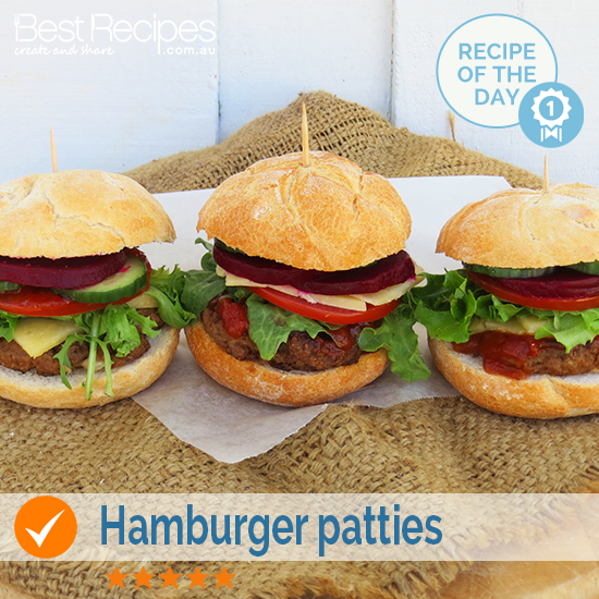Tasty and easy hamburger patties! #hamburger #meat #easy #fun