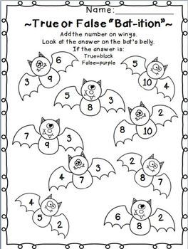 Fabulous Fall Printables Math And Ela Printables Halloween Math Halloween Math Worksheets 1st Grade Math