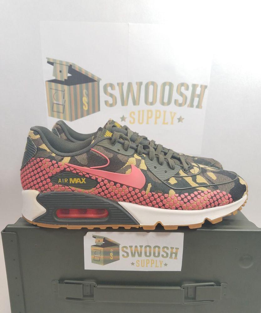 c28b12109cc5 NIKE AIR MAX 90 Camo JCRD PRM Womens 807298 200 WMNS SIZE 9  Nike   RunningCrossTraining