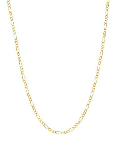 Mcs Jewelry 10 Karat Yellow Gold Hollow Figaro Chain Necklace 18 Want To Know More Click On The Image This Is An Amazon Affiliate Link Necklaces Gold