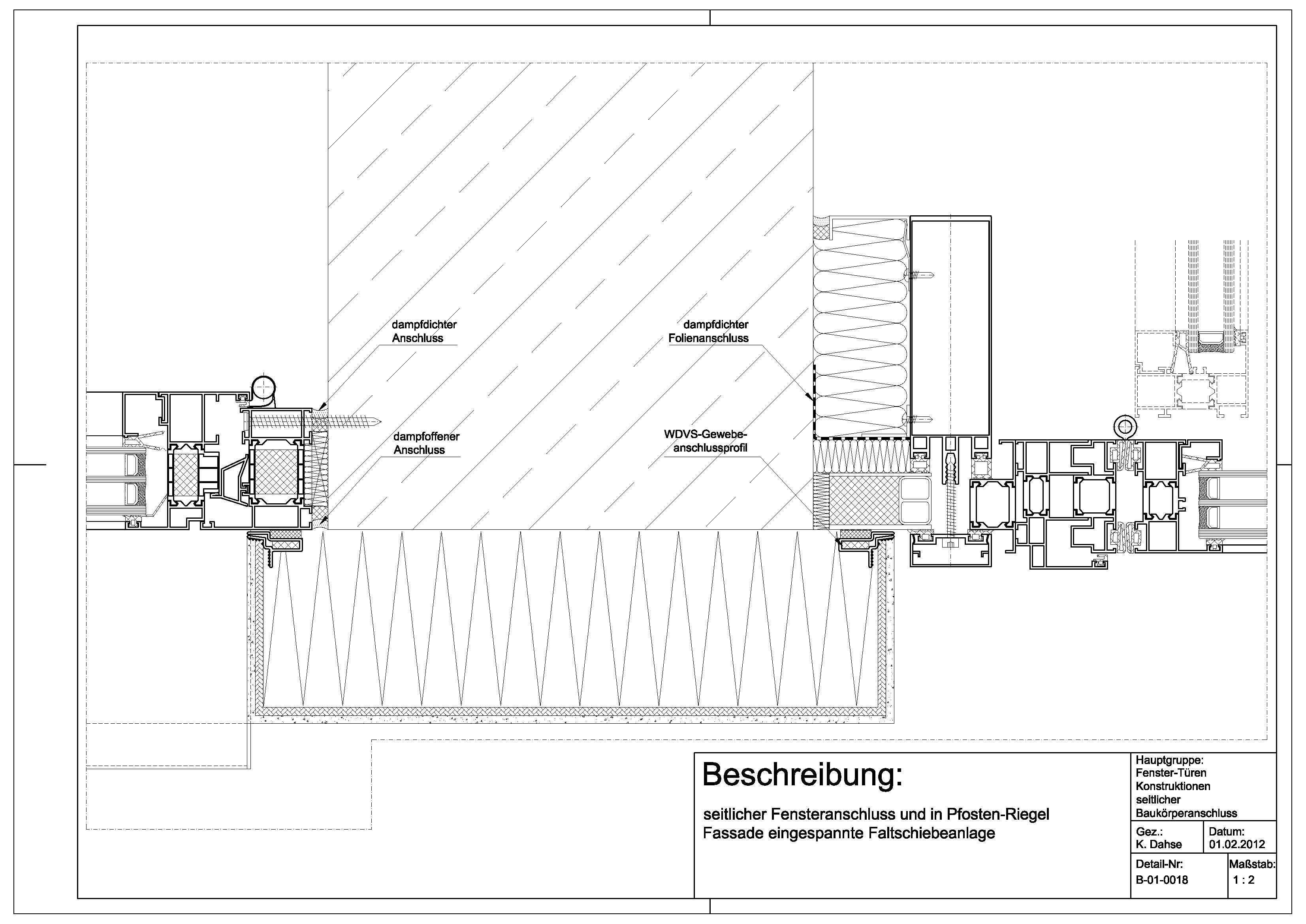 Tür detail anschluss  A-01-0013 Anschluss WDVS an einer nach innen öffnenden Tür | Фасад ...