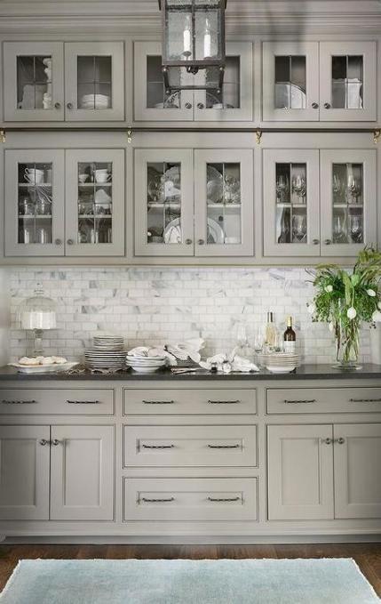 44+ Trendy Kitchen Dark Gray Cabinets Black Countertops