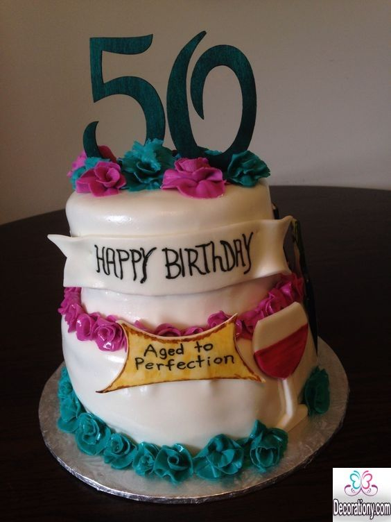 50th Birthday Cakes 13 Impressive Designs