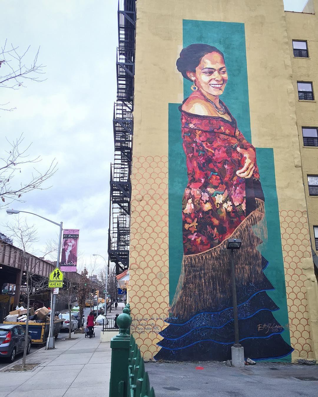 """""""Big @bzcasanas mural for 2013's #losmuroshablannyc festival. 1664 Park Avenue. _______________________________________________ #betsycasañas #betsycasanas…"""""""