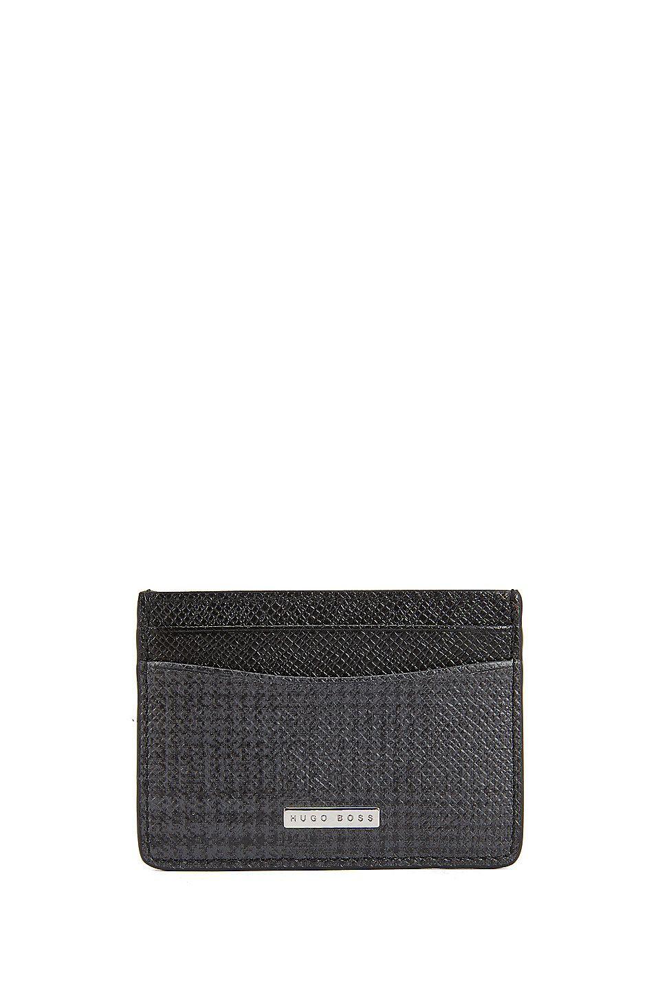 7781b7c1d9f3 HUGO BOSS Signature Collection card holder in grained palmellato leather -  Dark Red… | Accessories Men | Accessories for Men | Mens Fashion  Accessories ...