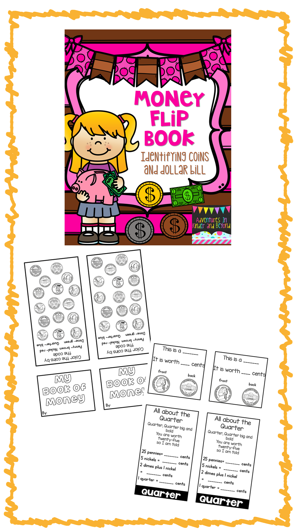 Money Flip Book Identifying Coins And Dollar