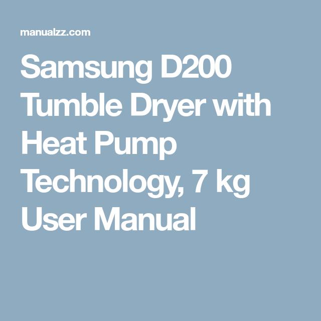 Samsung D200 Tumble Dryer with Heat Pump Technology, 7 kg