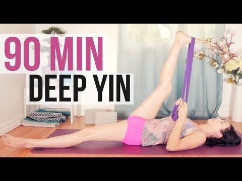 yin yoga deep stretches  long holds 90 min  restorative
