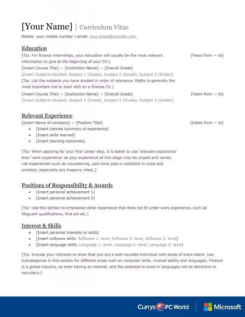 Cv Template Graduate , CvTemplate graduate template