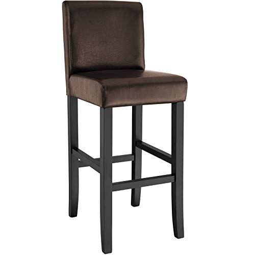 tectake design bar stool bar chair 111cm brown tectake