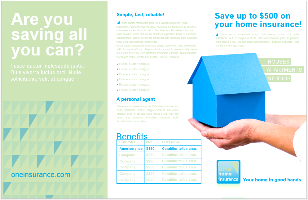 Family Insurance Brochure Template Brochure template