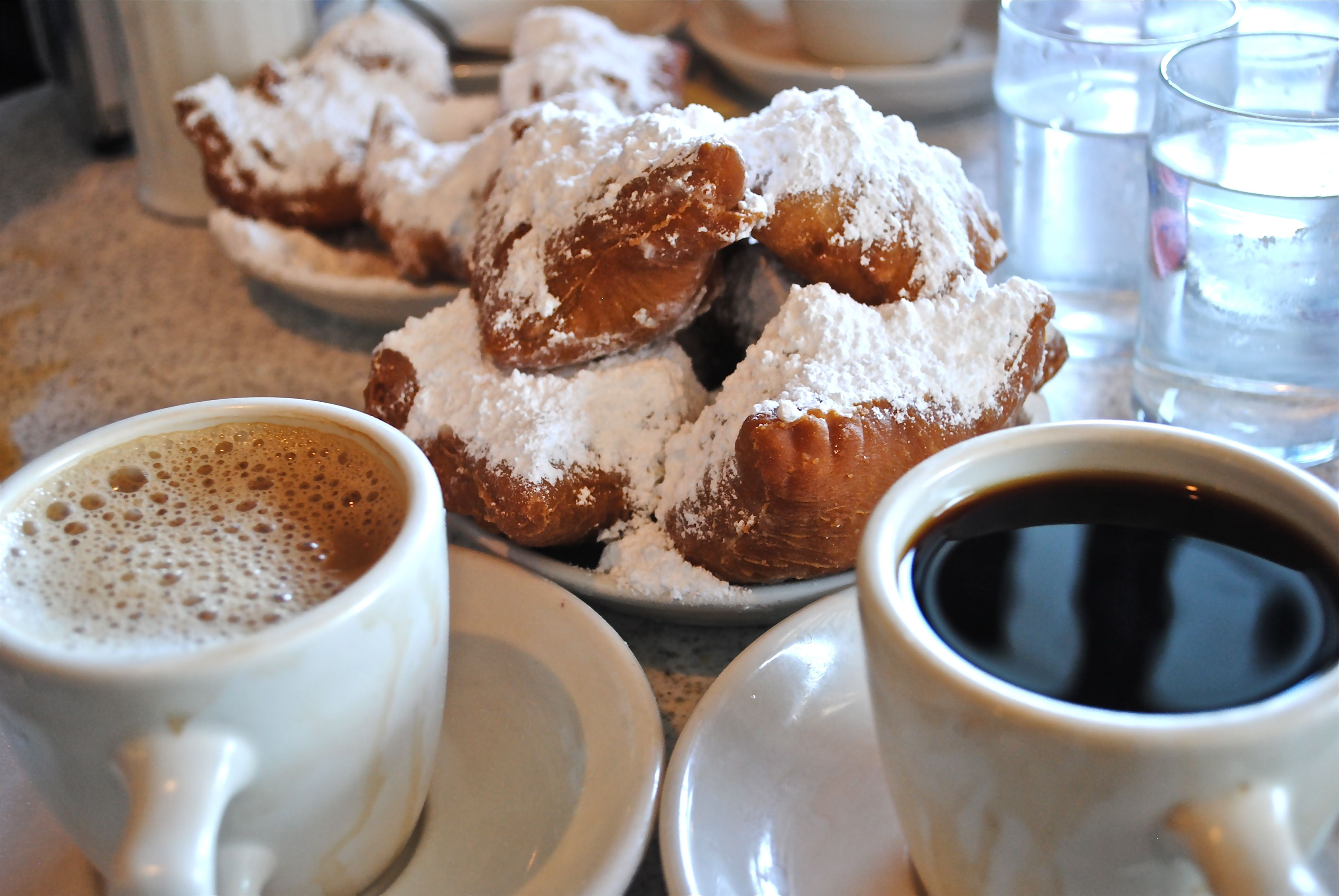 & Coffee Cafe Du Monde, New Orleans, LA Food