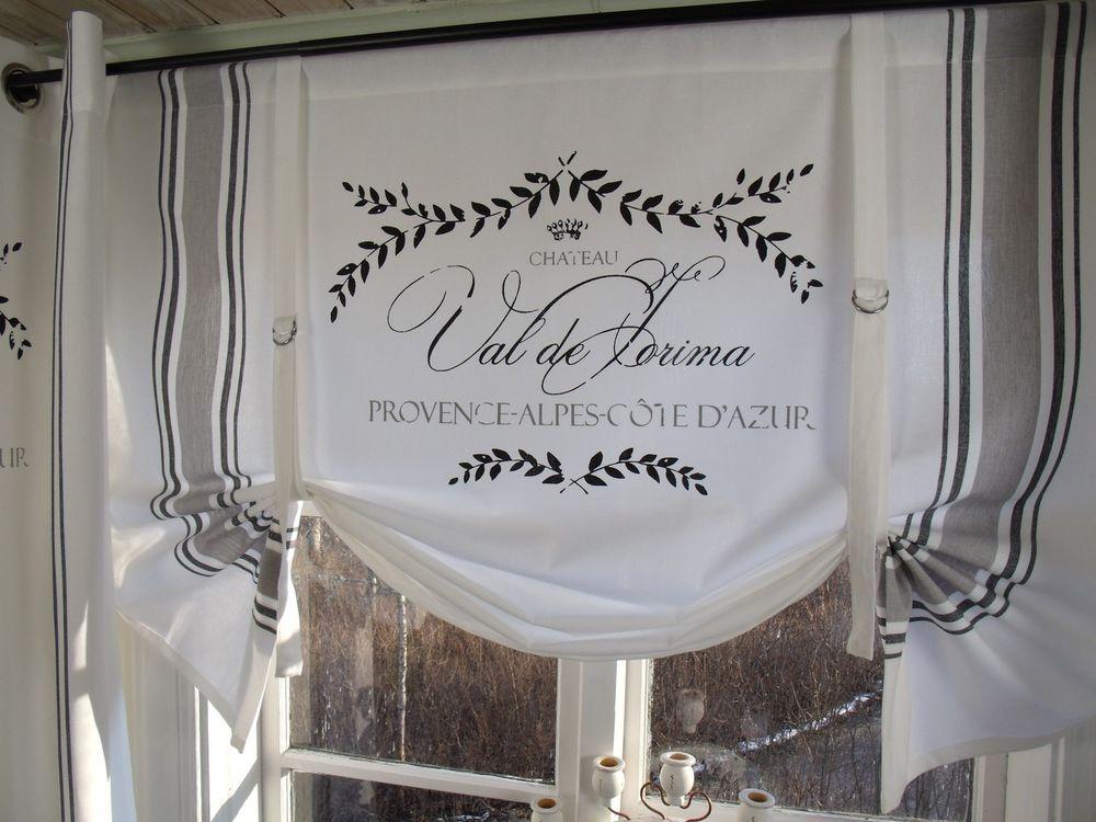 lillabelle maje schwarz raff gardine rollo wei 100x90 shabby landhaus curtain in m bel wohnen. Black Bedroom Furniture Sets. Home Design Ideas