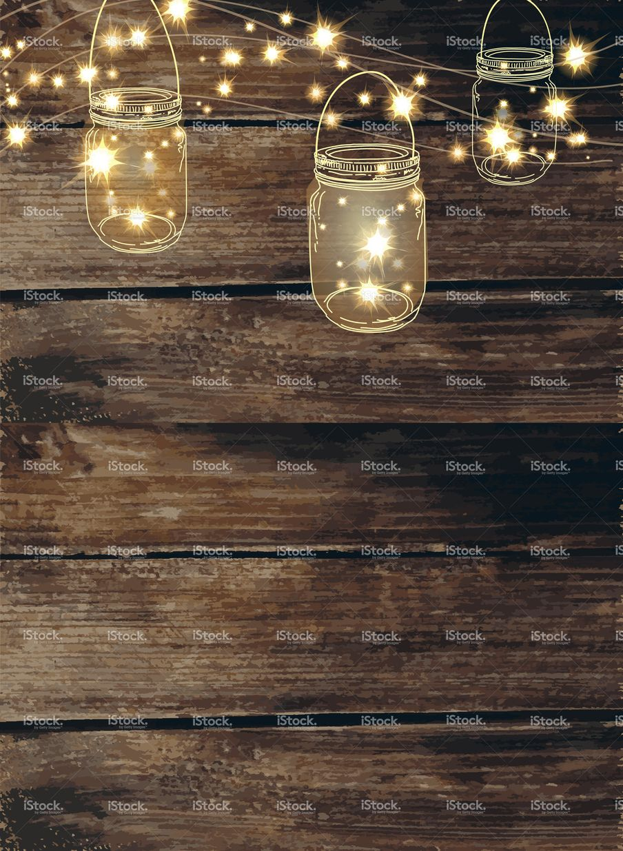 Country And Western Invitation Design Template Jar String Lights