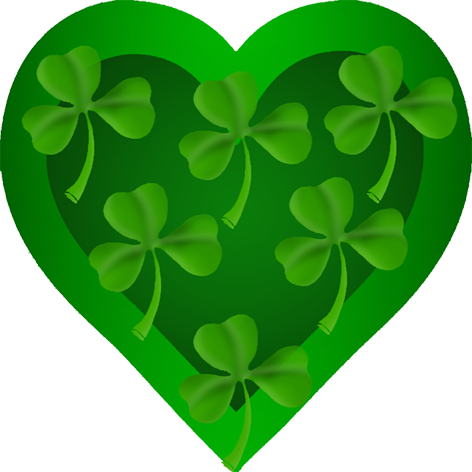 st patrick s heart with shamrock irish pinterest saints clip rh pinterest com au clipart free st patrick's day free st patricks day clipart borders