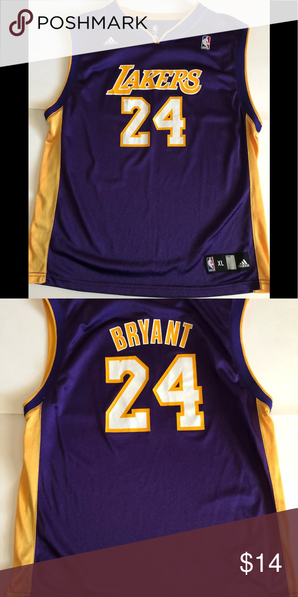891f749797e Lakers Jersey Kobe Bryant 24 Lakers 24 Xl youths some wear on Lakers  lettering otherwise great shape. Tops Muscle Tees