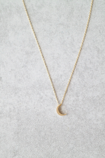 Crescent Moon Necklace #necklace #EarJewelry in 2020 (With