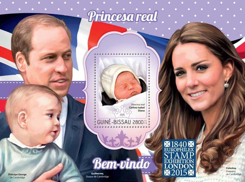 ROYAL BABY PRINCE GEORGE KATE MIDDLETON AND PRINCE WILLIAM MNH STAMP SHEETLET