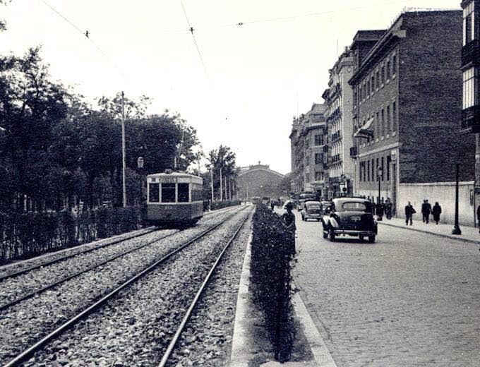 Paseo del Prado. Años 50.