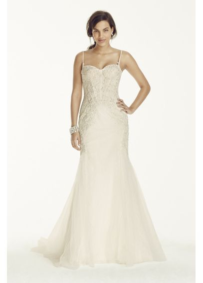 160d390ef75e Spaghetti Strap Trumpet Gown with Corset Bodice // Galina // style SWG690