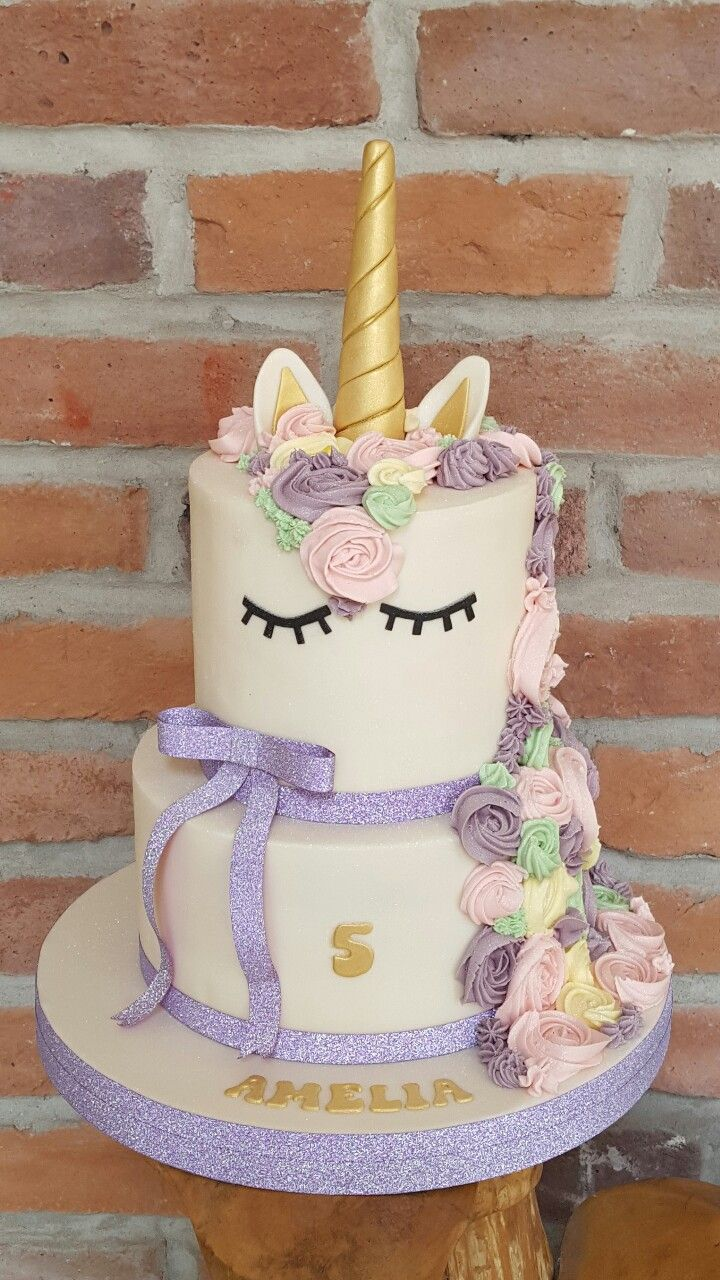 Unicorn Cake 2 Tier Unicorn Birthday Cake Tiered Cakes
