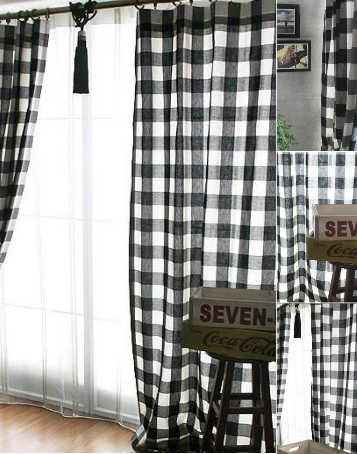 Pin by lillythailand on Renovating Plaid curtains, Black
