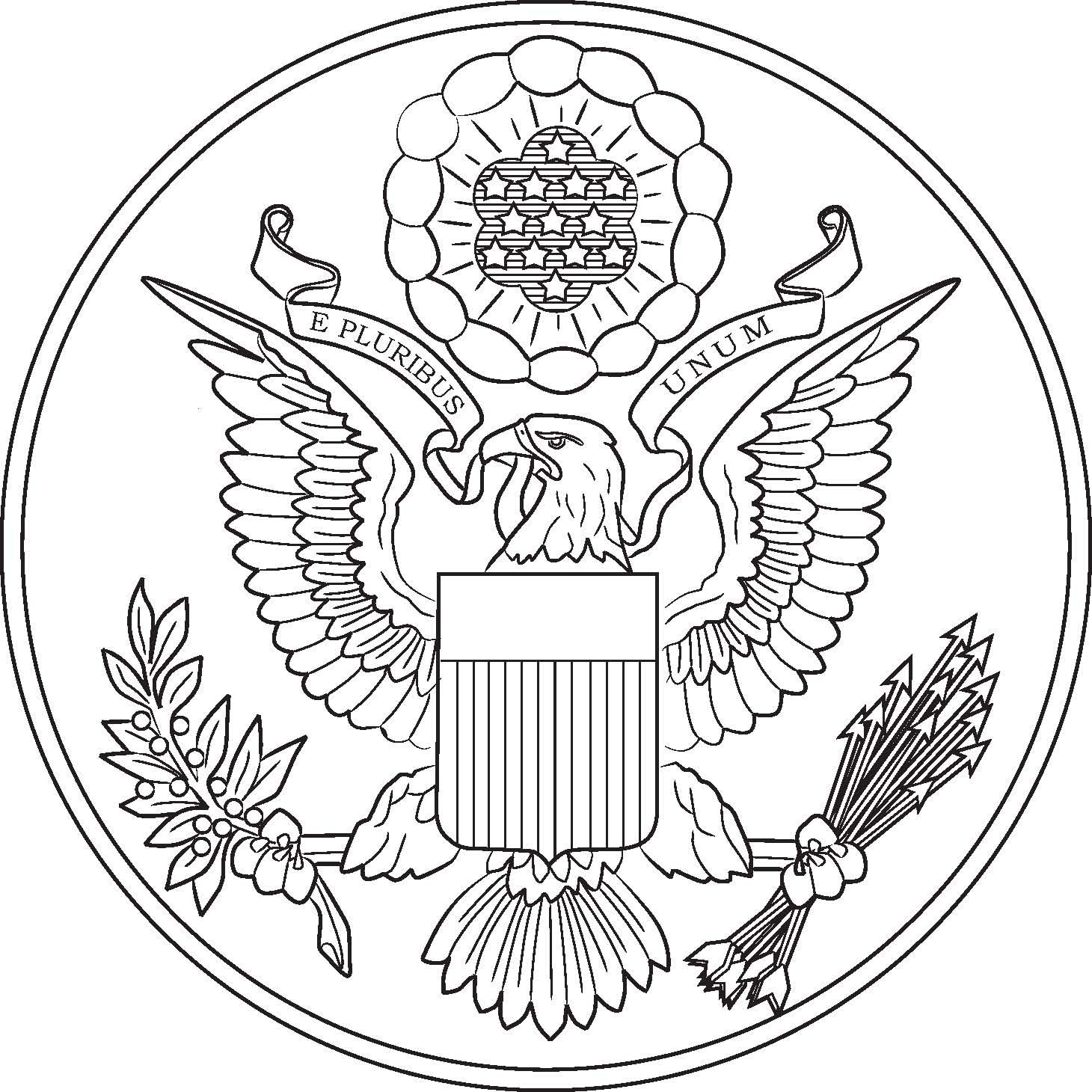 Patriotic eagle coloring pages - Coloring Pages Washington Dc Coloring Pages The Great Seal Of The United States